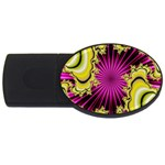 sonic_yellow_wallpaper-120357 USB Flash Drive Oval (2 GB)