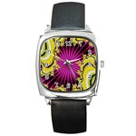 sonic_yellow_wallpaper-120357 Square Metal Watch