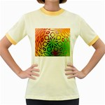 Alternative%20Flower-346872 Women s Fitted Ringer T-Shirt