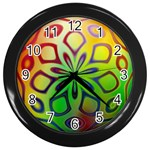 Alternative%20Flower-346872 Wall Clock (Black)