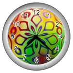 Alternative%20Flower-346872 Wall Clock (Silver)