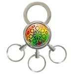 Alternative%20Flower-346872 3-Ring Key Chain