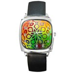 Alternative%20Flower-346872 Square Metal Watch
