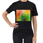 Alternative%20Flower-346872 Women s Black T-Shirt (Two Sides)