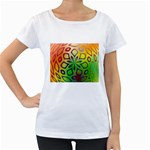 Alternative%20Flower-346872 Maternity White T-Shirt