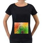 Alternative%20Flower-346872 Maternity Black T-Shirt