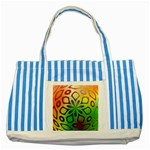 Alternative%20Flower-346872 Striped Blue Tote Bag