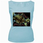 tabula_wallpaper-145984 Women s Baby Blue Tank Top