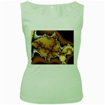 tabula_wallpaper-145984 Women s Green Tank Top