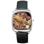 tabula_wallpaper-145984 Square Metal Watch