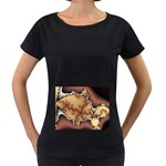 tabula_wallpaper-145984 Maternity Black T-Shirt