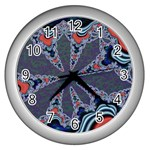 fractal_supiart_wallpaper-816331 Wall Clock (Silver)