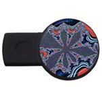 fractal_supiart_wallpaper-816331 USB Flash Drive Round (2 GB)