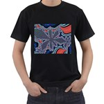 fractal_supiart_wallpaper-816331 Black T-Shirt (Two Sides)