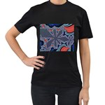 fractal_supiart_wallpaper-816331 Women s Black T-Shirt (Two Sides)