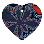 fractal_supiart_wallpaper-816331 Heart Ornament (Two Sides)