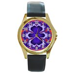 fractal_wallpaper-212207 Round Gold Metal Watch