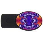 fractal_wallpaper-212207 USB Flash Drive Oval (1 GB)