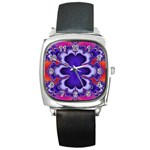fractal_wallpaper-212207 Square Metal Watch