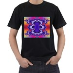fractal_wallpaper-212207 Black T-Shirt (Two Sides)