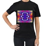 fractal_wallpaper-212207 Women s Black T-Shirt (Two Sides)