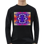 fractal_wallpaper-212207 Long Sleeve Dark T-Shirt