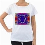 fractal_wallpaper-212207 Maternity White T-Shirt