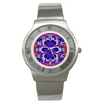 fractal_wallpaper-212207 Stainless Steel Watch