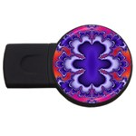 fractal_wallpaper-212207 USB Flash Drive Round (4 GB)