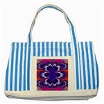 fractal_wallpaper-212207 Striped Blue Tote Bag