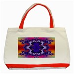 fractal_wallpaper-212207 Classic Tote Bag (Red)