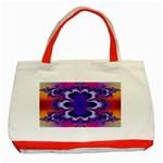 fractal_wallpaper-212207 Classic Tote Bag (Red)