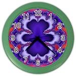 fractal_wallpaper-212207 Color Wall Clock