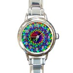 goa2-97848 Round Italian Charm Watch