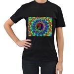 goa2-97848 Women s Black T-Shirt (Two Sides)