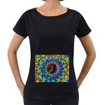 goa2-97848 Maternity Black T-Shirt
