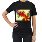 goglow-153133 Women s Black T-Shirt (Two Sides)