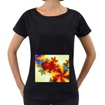 goglow-153133 Maternity Black T-Shirt