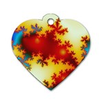 goglow-153133 Dog Tag Heart (One Side)