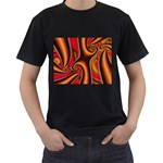 3z28d332-625646 Black T-Shirt (Two Sides)