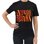 3z28d332-625646 Women s Black T-Shirt (Two Sides)