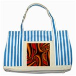 3z28d332-625646 Striped Blue Tote Bag