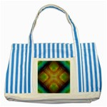 Bobo-660847 Striped Blue Tote Bag