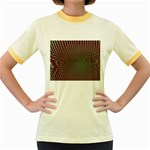 Spiral-Abnorm%2001-601877 Women s Fitted Ringer T-Shirt