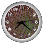 Spiral-Abnorm%2001-601877 Wall Clock (Silver)