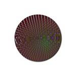 Spiral-Abnorm%2001-601877 Rubber Round Coaster (4 pack)