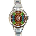 Toxic_Wave-838095 Round Italian Charm Watch