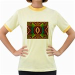 Toxic_Wave-838095 Women s Fitted Ringer T-Shirt