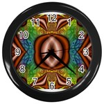Toxic_Wave-838095 Wall Clock (Black)