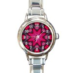 X_Red_Party_Style-777633 Round Italian Charm Watch